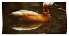 Bath Towel featuring the photograph Beautiful Rust Goose by The 3 Cats