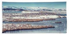 Beautiful Winter Landscape Hand Towel