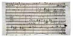 Beethoven Manuscript Bath Towel
