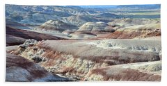 Bentonite Clay Dunes In Cathedral Valley Bath Towel by Ray Mathis