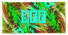 Best Friends Forever Bath Towel by Bonnie Bruno