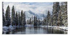Big Springs In Winter Idaho Journey Landscape Photography By Kaylyn Franks Hand Towel