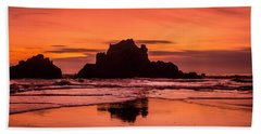 Big Sur Sunset Hand Towel