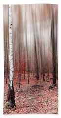 Birchforest In Fall Hand Towel by Hannes Cmarits