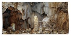 Bath Towel featuring the photograph Bizarre Mineral Formations In Stalactite Cavern by Michal Boubin