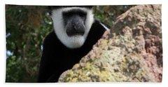Black And White Colobus Monkey Bath Towel