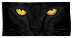 Bath Towel featuring the painting Superstitious Cat by Anastasiya Malakhova