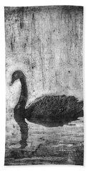 Black Swan Hand Towel
