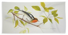 Blackburnian Warbler Bath Towel