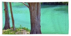 Blanco River Texas Hand Towel by Ray Shrewsberry
