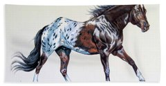 Blanketed Appaloosa Bath Towel by Cheryl Poland