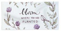 Bloom Bath Towel by Elizabeth Robinette Tyndall