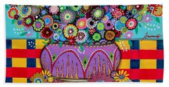 Bath Towel featuring the painting Blooms by Pristine Cartera Turkus