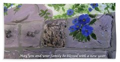 Blossoms Along The Wall Bath Towel
