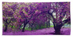 Blossoms In Central Park Bath Towel