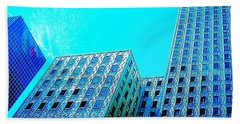 #blue #buildings And #bluesky On A Hand Towel