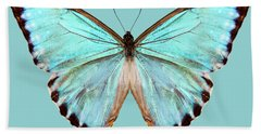 blue butterfly species Morpho portis thamyris Hand Towel