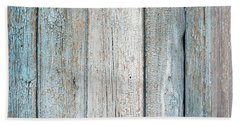 Hand Towel featuring the photograph Blue Fading Paint On Wood by John Williams