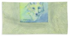 Blue Fox Hand Towel