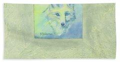 Blue Fox Hand Towel