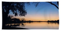 Blue Gold Sunset Hand Towel