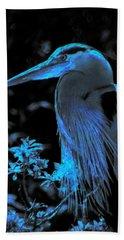 Bath Towel featuring the photograph Blue Heron by Lori Seaman