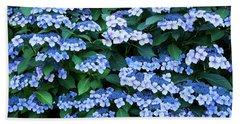 Miksang 12 Blue Hydrangea Hand Towel by Theresa Tahara