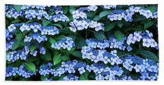 Bath Towel featuring the photograph Miksang 12 Blue Hydrangea by Theresa Tahara