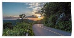 Blue Ridge Parkway Morning Sun Bath Towel
