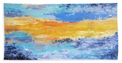 Blue Sunset Bath Towel