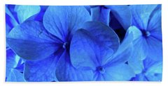 Hand Towel featuring the photograph Blue by Nancy Patterson