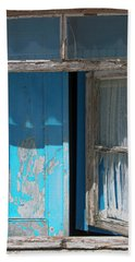 Blue Window Hand Towel by Edgar Laureano