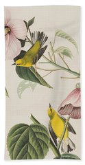 Blue-winged Yellow Warbler  Hand Towel