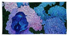 Bath Towel featuring the painting Bluebird by Michael Frank