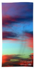 Blushed Sky Bath Towel by Linda Hollis