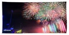 Boathouse Fireworks Bath Towel