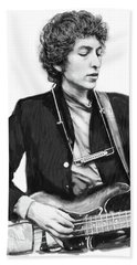 Bob Dylan Drawing Art Poster Hand Towel by Kim Wang
