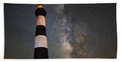Bodie Island Lighthouse Milky Way Bath Towel