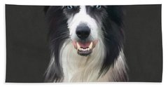 Border Collie Hand Towel