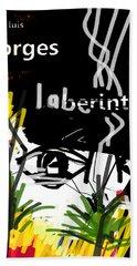 Borges' Labyrinths Poster Bath Towel