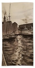 Boston Harbor Bath Towel by Rose Wang