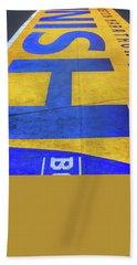 Hand Towel featuring the photograph Boston Marathon Finish Line by Joann Vitali