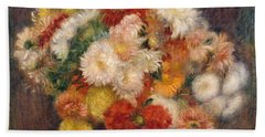 Bouquet Of Chrysanthemums Bath Towel
