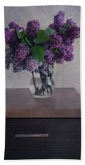 Bath Towel featuring the photograph Bouquet Of Fresh Lilacs by Jaroslaw Blaminsky