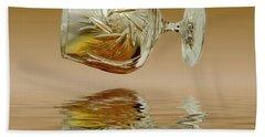 Brandy Decanter Glass Bath Towel by David French