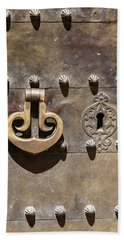 Brass Door Knocker Hand Towel