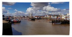 Bridlington Harbour Hand Towel