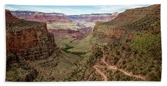 Bright Angel Trail From The South Rim, Grand  Canyon Hand Towel