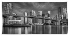 Brooklyn Bridge From Dumbo Hand Towel by Susan Candelario
