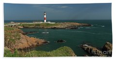 Buchan Ness Lighthouse And The North Sea Bath Towel